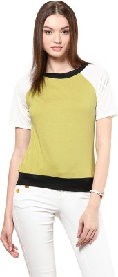 Golden Couture Casual, Festive, Formal, Party Short Sleeve Solid Women's Multicolor Top