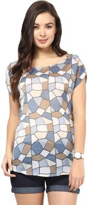 Abiti Bella Casual Short Sleeve Printed Women's Multicolor Top