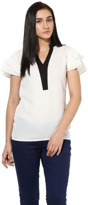 La Firangi Casual Bell Sleeve Solid Women's White Top at flipkart