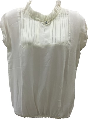 Dovekie Casual Sleeveless Solid Women's White Top