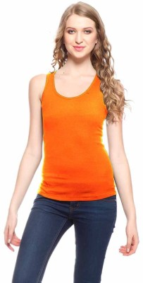 99DailyDeals Casual Sleeveless Solid Girl's Orange Top