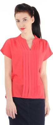 Pepe Jeans Casual Full Sleeve Solid Women's Orange Top