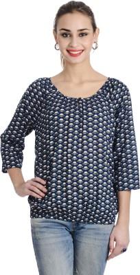 Keona Casual Full Sleeve Printed Women's Blue Top