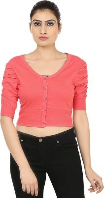 Haniya Casual 3/4 Sleeve Solid Women's Pink Top