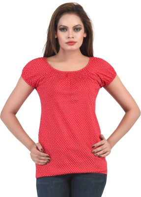 FamGlam Casual Short Sleeve Solid Women's Multicolor Top