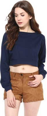 Miss Chase Casual Full Sleeve Solid Women's Blue Top at flipkart