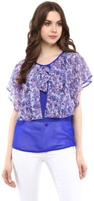 Abiti Bella Casual Sleeveless Floral Print Women's Blue Top