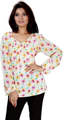 Kurtiz Casual Full Sleeve Floral Print Women's Multicolor Top