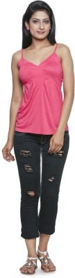 Five Stone Casual Sleeveless Solid Women's Pink Top