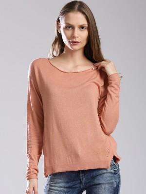 GAS Casual Full Sleeve Solid Women's Orange Top