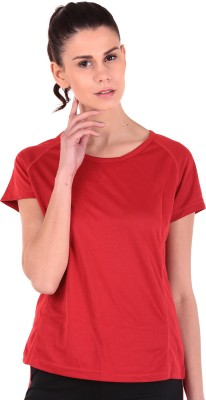 Sjoe Sports Cap sleeve Solid Women's Red Top