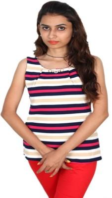 Vanya Enterprises Casual Sleeveless Geometric Print Women's Multicolor Top