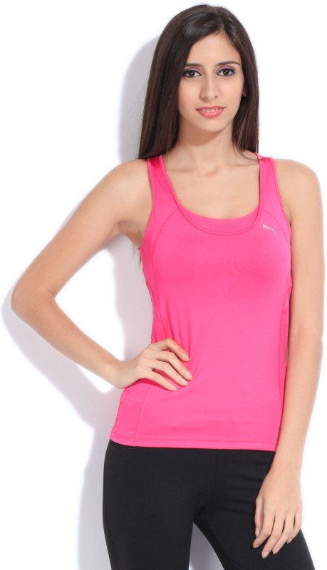 Puma Sports Sleeveless Solid Women's Pink Top