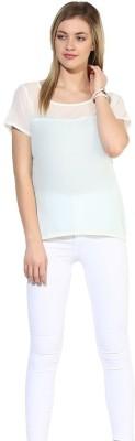 La Firangi Casual Short Sleeve Solid Women's Multicolor Top at flipkart