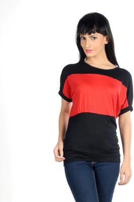 Hugo Chavez Casual Short Sleeve Solid Women's Black Top