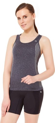Amante Sports Sleeveless Solid Women's Black Top
