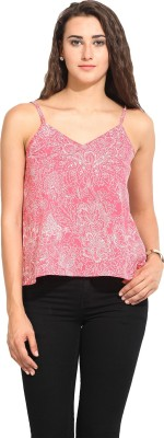 Lucero Casual Sleeveless Floral Print Women's Pink Top