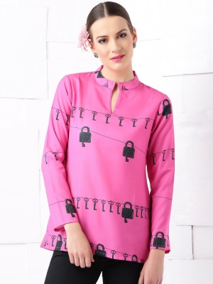 Masaba for Anouk Casual Full Sleeve Floral Print Women's Pink Top