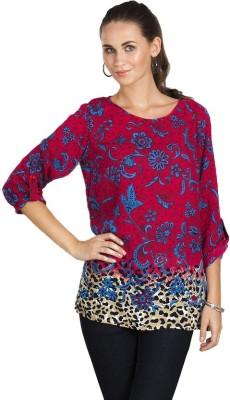 Vivante by VSA Casual Full Sleeve Printed Women's Pink Top