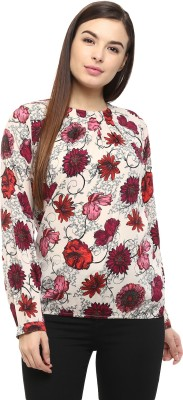COLOR COCKTAIL Casual Full Sleeve Floral Print Women's Multicolor Top