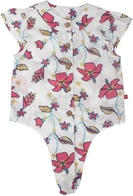 Nino Bambino Casual Cap sleeve Floral Print Girl's Multicolor Top