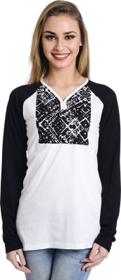 Butterfly Wears Casual Full Sleeve Printed Women's White Top