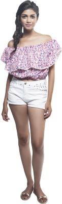 Sassystripes Casual Sleeveless Printed Women's Pink Top