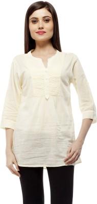 Stylestone Casual, Formal, Lounge Wear, Beach Wear, Party 3/4 Sleeve Solid Women's Yellow Top