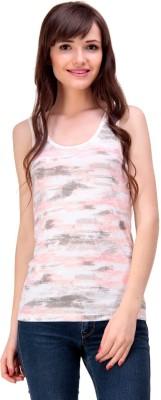 Ebry Casual Sleeveless Printed Girl's Multicolor Top