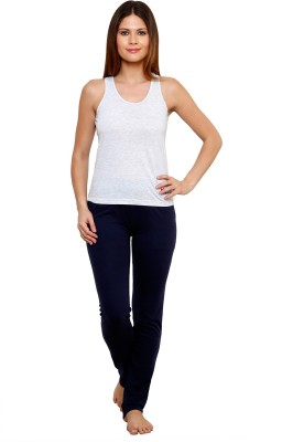 Private Lives Casual Sleeveless Solid Women's Grey Top