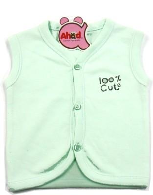 Ahad Casual Sleeveless Solid Baby Girl's Light Green Top