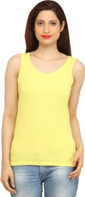 BepoyZ Casual Sleeveless Solid Women's Yellow Top