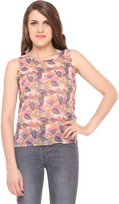Lemon Chillo Casual Sleeveless Printed Women's Multicolor Top