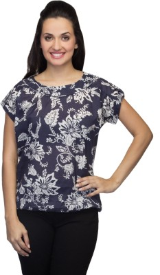 Tara Lifestyle Casual Short Sleeve Floral Print Women's Multicolor Top