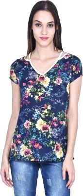 Eva De Moda Casual Short Sleeve Printed Women's Multicolor Top