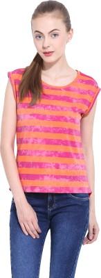 Leo Sansini Casual Sleeveless Striped Women's Multicolor Top