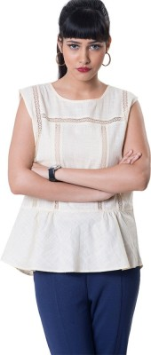 The Office Walk Formal Sleeveless Solid Women's White Top