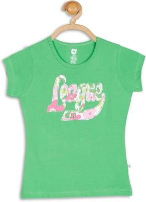 612 League Casual Short Sleeve Applique Girl's Dark Green Top