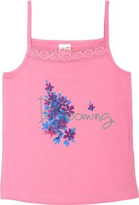 FS Mini Klub Casual Sleeveless Printed Girl's Pink Top