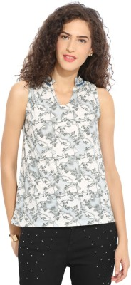 Northern Lights Casual Sleeveless Printed Women's Multicolor Top