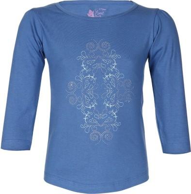 Miss Alibi by Inmark Casual Full Sleeve Printed Girl's Blue Top