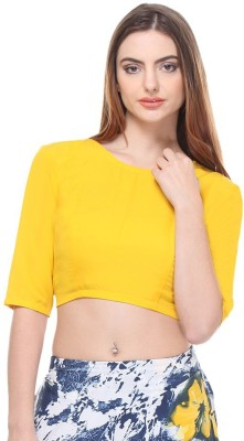 Closet Drama Casual 3/4 Sleeve Solid Women's Yellow Top