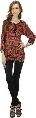 Splendent Casual 3/4 Sleeve Printed Women's Multicolor Top
