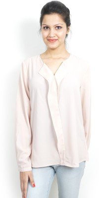 Bay & Blue Casual Full Sleeve Solid Women's Pink Top