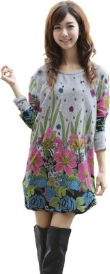LAILI Casual 3/4 Sleeve Printed Women's Multicolor Top