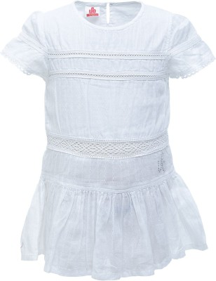 UFO Casual Short Sleeve Solid Girl's White Top