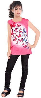 JAY BHAVANI FASHION Casual Short Sleeve Printed Women's Pink Top