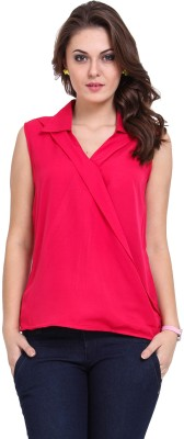 DeDe,S Casual Sleeveless Solid Women's Pink Top