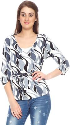 Fizzaro Casual Full Sleeve Printed Women's Grey Top