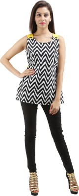 Sunshine Casual Sleeveless Solid Women's Multicolor Top